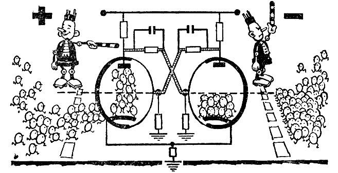 Схема триггера на лампах